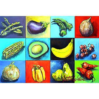 Carolines Treasures MW1227PLMT blandet frugt og grøntsager stof Placemat