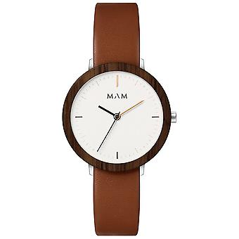 Mam Watches Ferra Watch for Japanese Quartz Analog Woman with Cowskin Bracelet 637