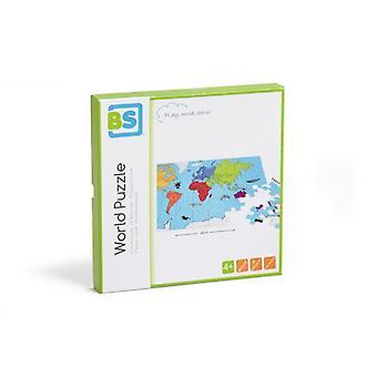 布伊滕斯皮尔世界拼图(婴儿和儿童,玩具,棋盘游戏)