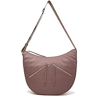 Borbonese Luna with Fillet Bag with Brown Woman Crossneck (Grisop Nat) 35x38x15 cm