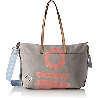 Oilily Fun Canvas Shopper Mhz - Grey Women's Shoulder Bags (Light Grey) 15x31x44cm (B x H T)
