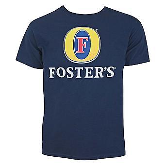 Foster's Beer Logo Men's Navy Blue T-Shirt