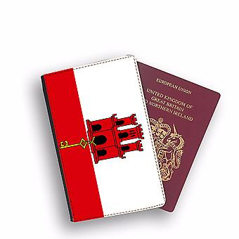 GIBRLTAR Flag Passport Holder Style Case Cover Protective Wallet Flags design