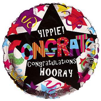 Simon Elvin Congratulations Round Foil Balloon