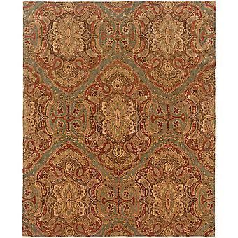 Huntley 19101 blue/rust indoor area rug rectangle 7'6