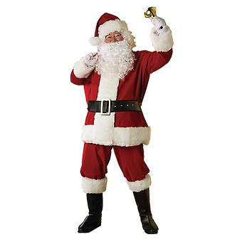 Mens Santa Claus Costume Father Christmas Xmas Fancy Dress