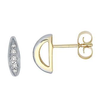 Miore MM9002ZE - Women's lobe earrings with cubic zirconia - 9k yellow gold (375)
