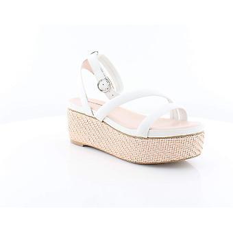 Avec Les Filles Womens Ava Leather Woven Platform Sandals