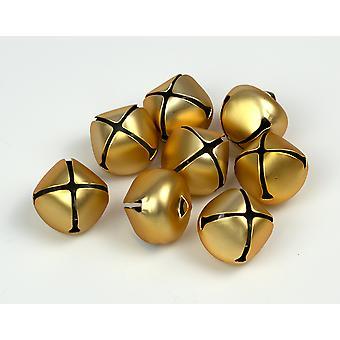 8 Matt Gold 25mm Jingle Bells for Crafts | Craft Bells