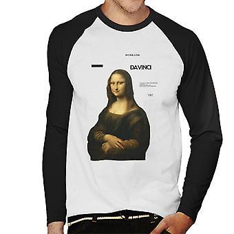 A. P. O. H Leonardo da Vinci Mona Lisa mesterværker citat mænd ' s baseball langærmet T-shirt