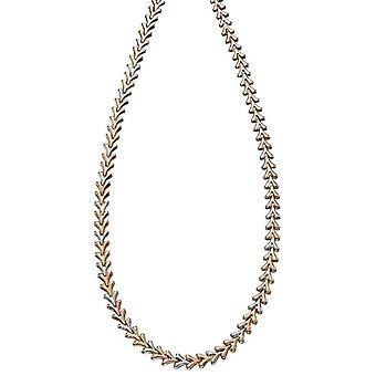 Elements guld tredobbelt tone trekant halskæde-guld/sølv/rosa guld
