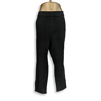 Martha Stewart Femmes apos;s Petite Jeans 28WP Knit Denim Ankle Black A351437