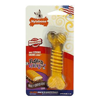 Interpet Limited Nylabone Flavour Frenzy Cheesesteak Regular Dog Chew Toy