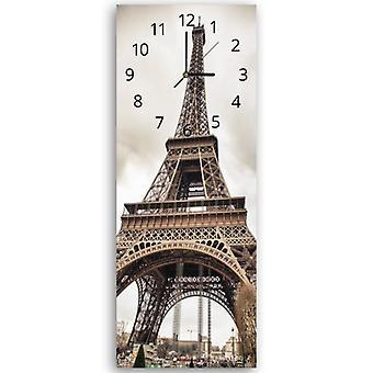 Decoratieve klok met foto, de Eiffel toren 2