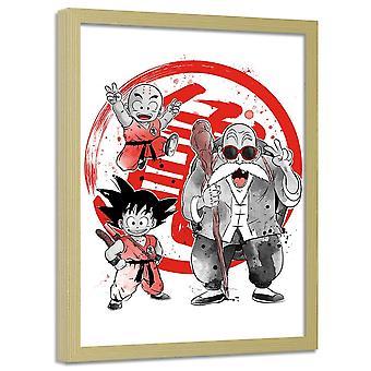 Cartel en marco, Manga Little Warriors 2