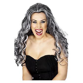 Womens Renaissance Vamp peruk maskeraddräkter tillbehör