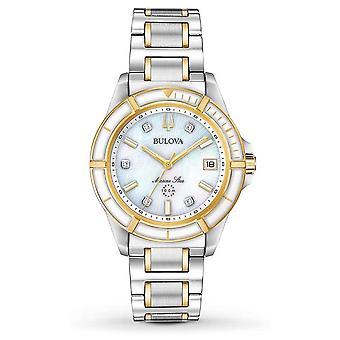 Bulova naisten Marine Star Two Tone ranne koru 98P186 Watch