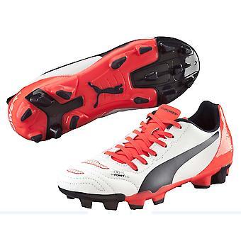 Puma Evopower 4.2 SG Football Boots (White-Orange) - Kids