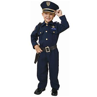Police Officer Delxue Policeman Cop FBI Uniform Book Week Boys Costume