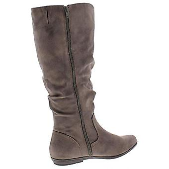 WHITE MOUNTAIN Womens FelisaWC Knee-high Faux Leather Riding Boots