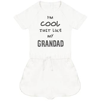 I-apos;m Cool Just Like My Grandad Baby Playsuit