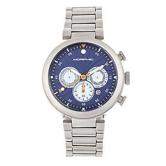 Morphic M87-serien chronograph armbånd klokke m/date-sølv/blå