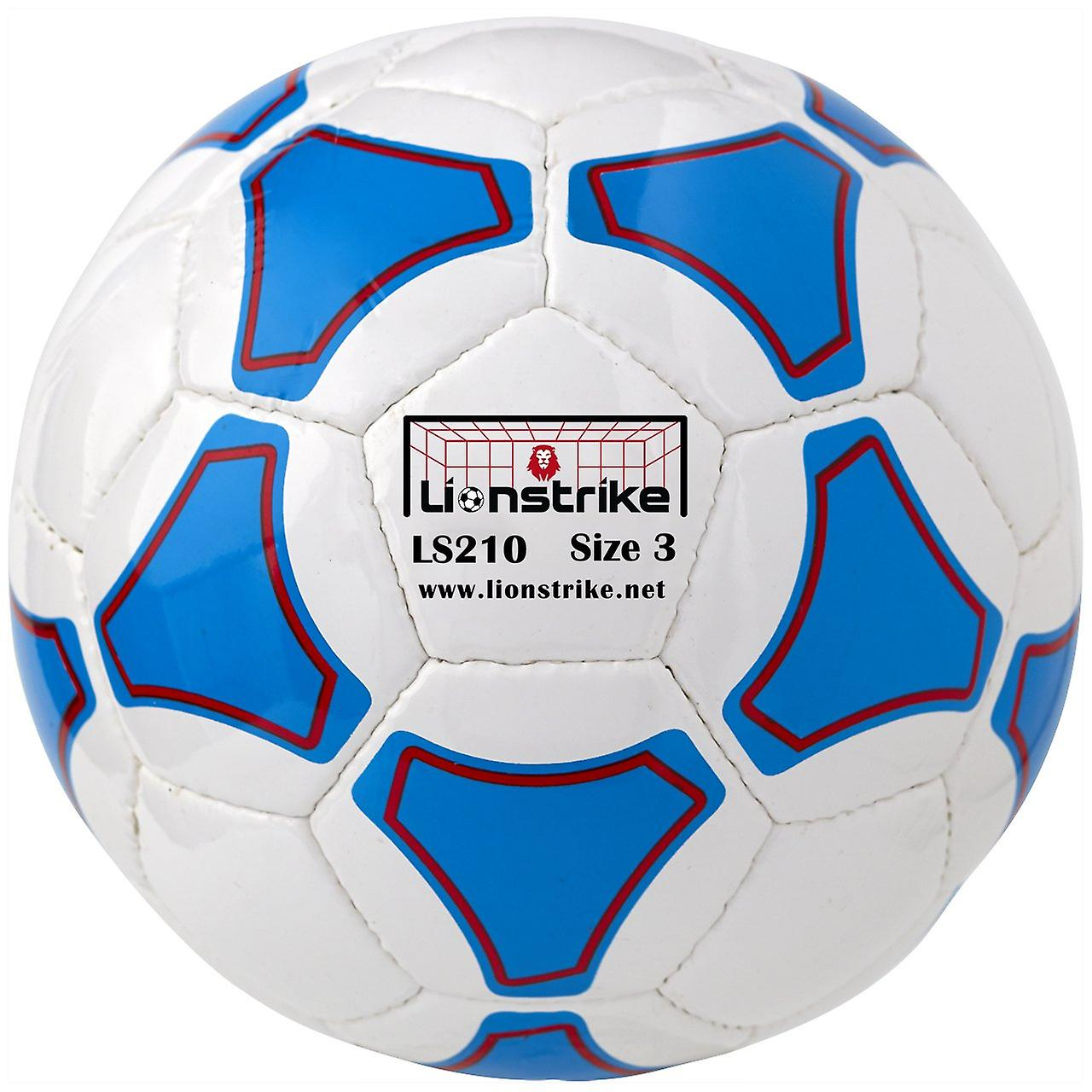 Lionstrike 210 leather football (size 3) - white