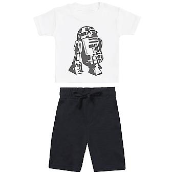 R2-D2 - Baby T-Shirt with Black Baby Shorts - Baby Outfit