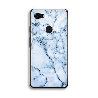 Google Pixel 3 Transparent Case (Soft) - Blue marble