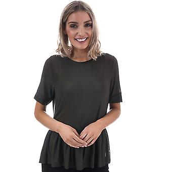 Womens Only Tribecca Mesh Top In Black Olive