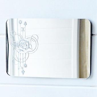 Роуз прямоугольник декоративные акриловые зеркало