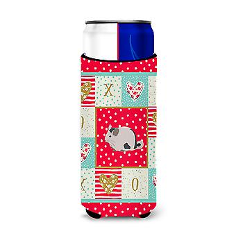 Mosaic Chinchilla Love Michelob Ultra Hugger for slim cans