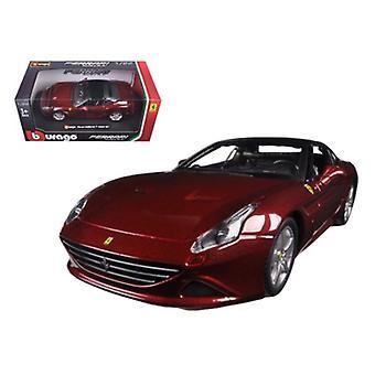 Ferrari California T Burgundy Fermé Top 1/24 Diecast Model Car par Bburago