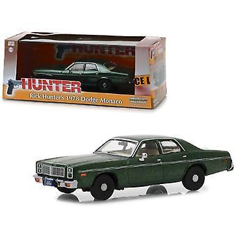 1978 Dodge Monaco (Rick Hunter-apos;s) Green Hunter (1984-1991) SÉRIE TV 1/43 Diecast Model Car par Greenlight