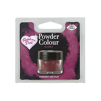 Pó do arco-íris comestível Matt Powder Dust Colour 4g Claret