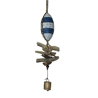 Wooden 10 Fish Float Cohasset Bell