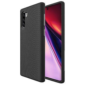Für Samsung Galaxy Note 10 Rüstung Fall Stoßfest Schlanke elegante Rückseite Cover schwarz