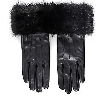 Barbour faux Fur Trim nahka käsineet
