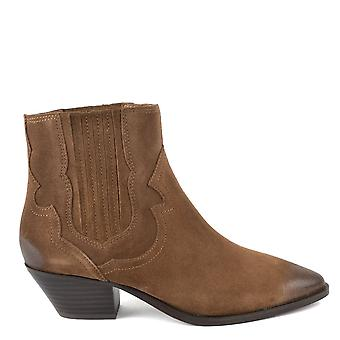 Ash FALCON Ankle Boots Brushed Russet Suede