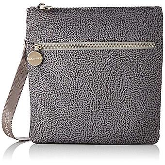 Borbonese Small Bag with Women's Shoulder (Slate Grey) 22x23.5x3 cm (W x H x L)