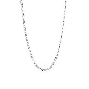 Evigheden sterling sølv 20 ' ' diamantskåret bremse kæde