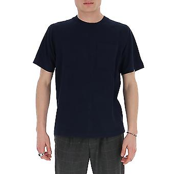 Acne Studios Bl0160navyblue Men's Blue Cotton T-shirt