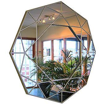 Mirror gold 8-angular 58cm
