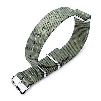 כתפיות n. t. o שעון רצועה miltat 20mm g10 צבא נאט ו לצפות רצועת, וופל לזרוע ניילון, מלוטש-צבאי ירוק