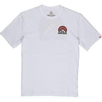 Element Sonata Kurzarm T-Shirt in Optik weiß