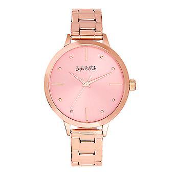Sophie and Freda Milwaukee Bracelet Watch - Rose Gold/Mauve