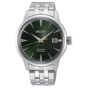 Seiko Watches Srpe15j1 Presage Dark Green & Silver Stainless Steel Automatic Men's Watch