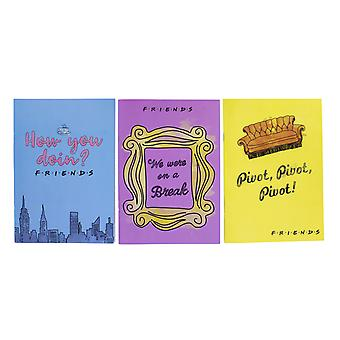 Friends Set of 3 Notebooks Sitcom Memorabilia Joey Rachel Ross Nostalgia