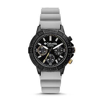 Columbia CSC03-005 Mens Peak Patrol Light Grey Silicone Chrono Wristwatch