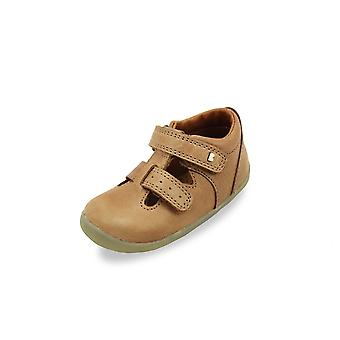 Bobux step up jack and jill caramel shoes